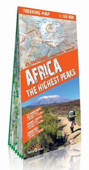 Africa the highest peaks 1:150 000 trekking map,