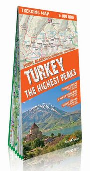 Turkey The Highest Peaks 1:100 000 trekking map,