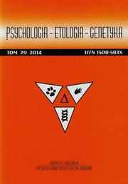 Psychologia Etologia Genetyka Tom 29,