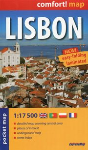 Lisbon comfort! map plan miasta 1:17 500,